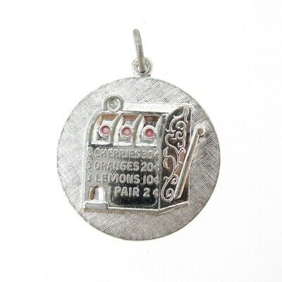 $59.95 • Buy Charm Griffith Sterling Silver SLOT MACHINE On  21.5 Mm Disc