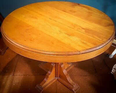AU100 • Buy Hard Wood, Circular Dining Table. Used Good Condition.
