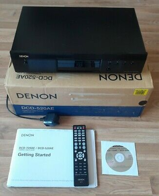 Denon - DCD-520AE - Compact Disc Player - Remote - Manual/CD - Boxed - NEW • 89.99£