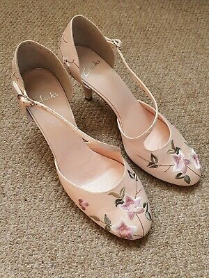 Clarks NEW UNWORN Womens Party Wedding Pink Stiletto Strappy Shoes 7.5/41.5 D • 24.99£