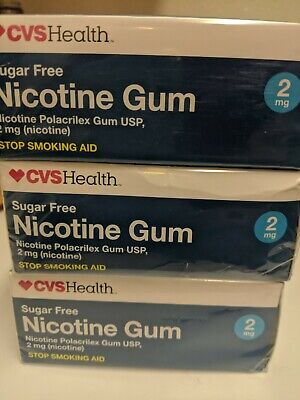 $ CDN66.49 • Buy Lot Of 3 CVS Nicotine Gum 2mg Coated Ice Mint 300 TOTAL Pieces 07/2020