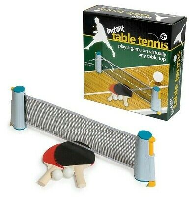 Instant Table Tennis Game Indoor Portable Travel Ping Pong Ball Set Extendable  • 11.99£