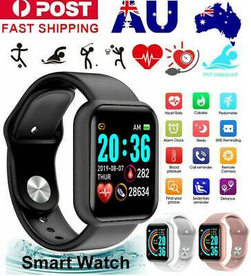 AU19.99 • Buy Bluetooth Smart Watch Waterproof Heart Rate Fitness Bracelet For IPhone Samsung