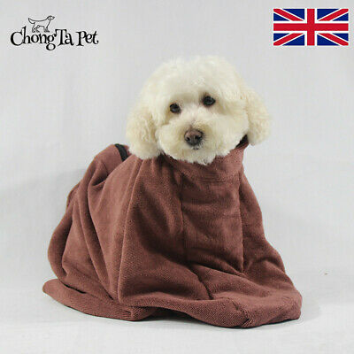 Microfibre Dog Dry Bath Towel Bag Fast Drying Doggy Cleaning Absorbent Bathrobe • 16.88£
