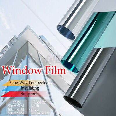One Way Mirror Film Window Glass Sticker Tint UV Insulate Reflect Privacy  • 6.91£