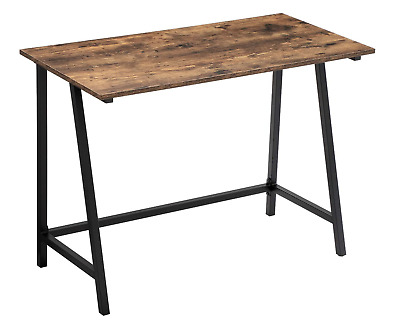 Small Computer Desk Vintage Industrial Furniture Rustic Writing Table Metal Leg • 79.90£