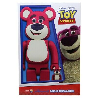 $300 • Buy Medicom BE@RBRICK Toy Story Lots-O'-Huggin' Bear 100% 400% Bearbrick Figure Set