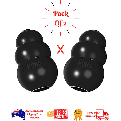 AU22.45 • Buy KONG  Extreme Dog Toy - Toughest Natural Rubber-Vet Recon- Black - All Sizes