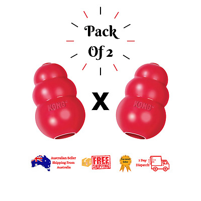 AU21.90 • Buy  KONG Classic Dog Toy Red Durable Natural Chew Rubber USA Made Recomended By Vet