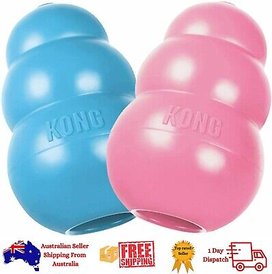 AU20.50 • Buy New Kong Puppy Dog Chew Toy Dental Teething Rubber All Sizes Tough USA Made