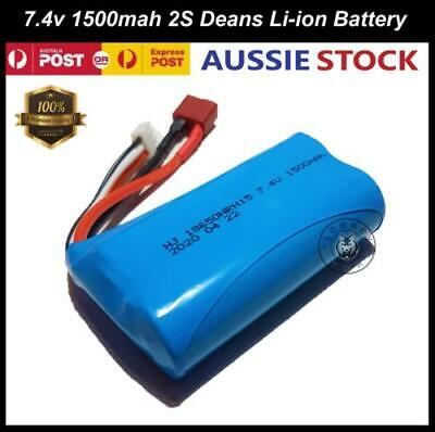 AU24.99 • Buy 7.4v 1500mAH 2S Li-ion Battery Deans For RC Toys Truck Boat Tank Car Spare Parts