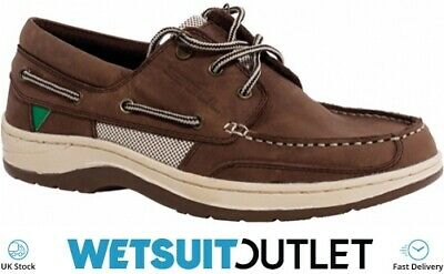 Gul Falmouth Leather Boat Shoes Sailing Yachting Deck Shoes Shoe TAN Boots • 95.50£
