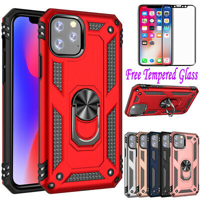 AU8.48 • Buy Shockproof Ring Holder Case Heavy Duty Cover For Apple IPhone Xr Xs 11 Pro Max