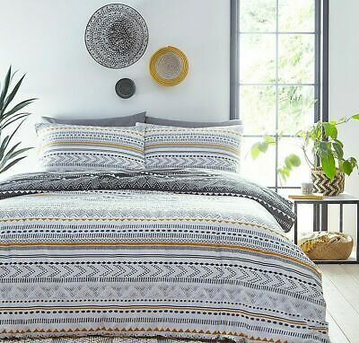 Jeff Banks King Size Bed Set Aztec Ports Of Call Duvet Cover & 2 Pillow Slips • 29.99£