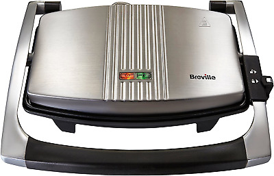 Breville Sandwich/Panini Press And Toastie Maker, 3-Slice, Stainless Steel Grill • 35.52£