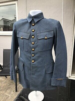 Original WW1 French Army Officers Tunic In Horizon Blue • 430£