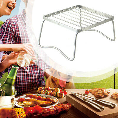 AU20.98 • Buy BBQ Fire Burner Grill Shelf Outdoor Barbecue Camping Picnic Folding Stove Rack