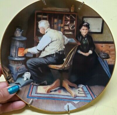 $ CDN18.87 • Buy Edwin M Knowles  Norman Rockwell Collector Plate  KEEPING COMPANY  1989