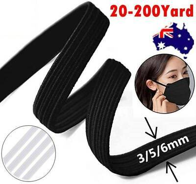 AU8.99 • Buy 3/5/6mm DIY Braided Elastic Thin Band Soft Cord Face Mask Strap Sewing Rope Knit