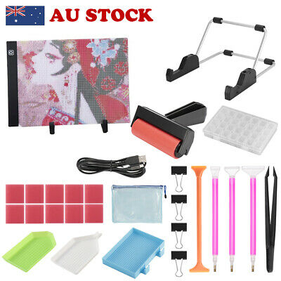 AU30.88 • Buy A4 LED Light Pad Kit Dimmable Light Brightness Board For DIY 5D Diamond Painting