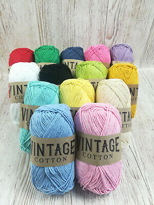 Vintage Cotton DK Yarn 100g Ball Multicoloured Crochet And Knitting Wool • 1.40£