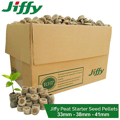Jiffy Peat Moss Starter Soil Plugs Pellets Seedling Cutting Compost Hydroponics • 8.69£
