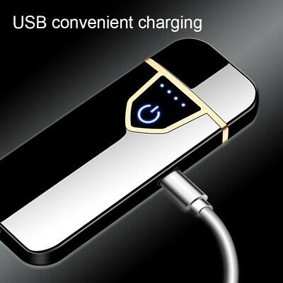 USB Charging Electronic Cigarette Lighters Rechargeable Flameless Touch • 5.49£