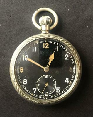 Gs Tp Military Crows Foot Aviator Pocket Watch Ww2 Navy Raf British American • 195£