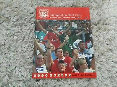 180) Liverpool FC 1999/2000 Official Merchandise Catalogue • 5.10£