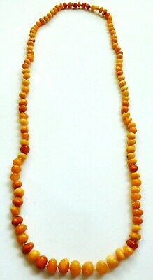 Vintage Butterscotch Amber Graduated Bead Necklace. 20.5 Grams. • 44£