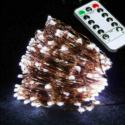 £6.21 • Buy Remote Control Battery Operated Fairy String LED Lights Decor For Party Indoor