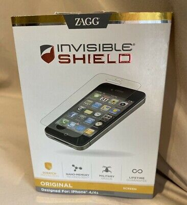 £3.97 • Buy ZAGG Invisibleshield Original Screen Protector For Apple IPhone 4 / IPhone 9618