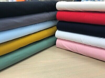 Plain Cotton JERSEY Fabric, T Shirt ,Stretch Knit,dressmaking Baby Grow Material • 10£