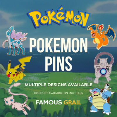 Pokemon Pin / Badges - 100% GENUINE / OFFICIAL - Select Your Design • 3.90£