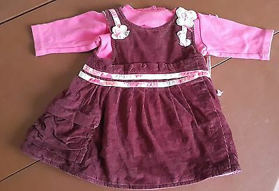 Dress Velvet Bordeaux With Top Pink MARESE 1 Month • 23.97£