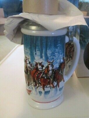 $ CDN90.75 • Buy Budweiser Lidded Holiday Stein  Winter's Calm  CS678SE