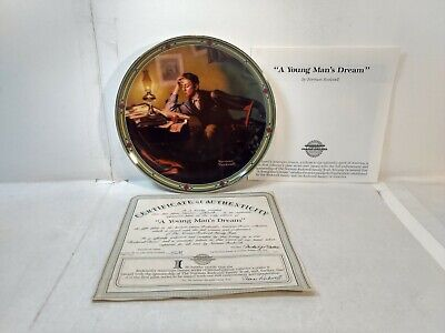$ CDN25.10 • Buy Edwin Knowles Norman Rockwell A Young Man's Dream 8.5  Decorative Plate Pl690