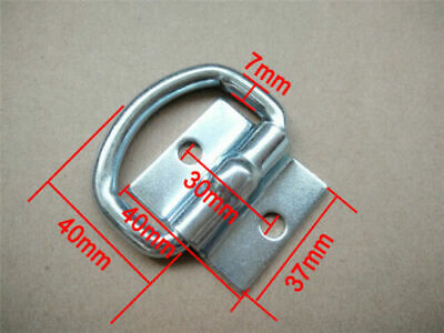 AU18.27 • Buy 6x Lashing D Ring Zinc Plated Tie Down Points Trailer Centre Hole 30mm Anchor