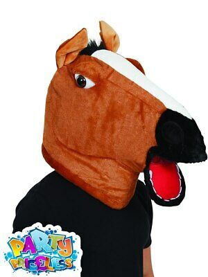 £17.29 • Buy Horse Mascot Mask Funny Animal Head Racing Pantomime Head Fancy Dress Accessory