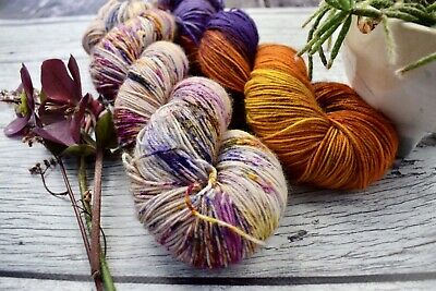 "AU46 • Buy Hand Dyed  ""Hello Parker"" 4 Ply Knitting Yarn  Colourwork Kit X 2 Skeins"