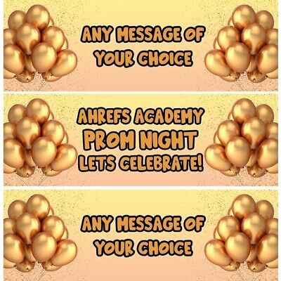 £4.99 • Buy 2 Personalised Gold Prom Night Party Celebration Banners Decoration Posters
