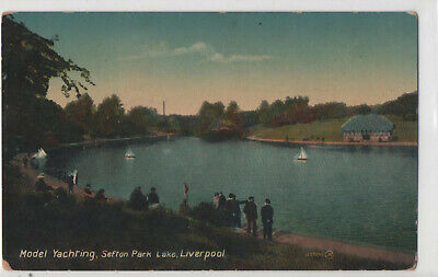 Postcard Model Yachting, Sefton Park, Liverpool Valentine's Series • 2.75£