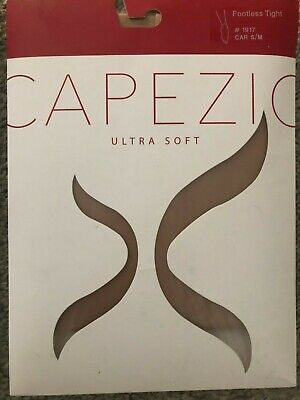 $8.99 • Buy Two Pairs Of Capezio Ultra Soft Footless Dance Tights S/M #1917 Two Pairs!