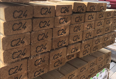 Timber Treated C16/ C24 Kiln Dried Tanalised Timber All Sizes & Length Available • 29£