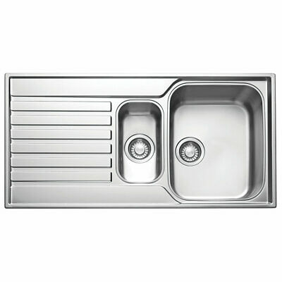 Franke Ascona Inset Sink Stainless Steel 1.5 Bowl 1000 X 510mm (a) • 129.99£