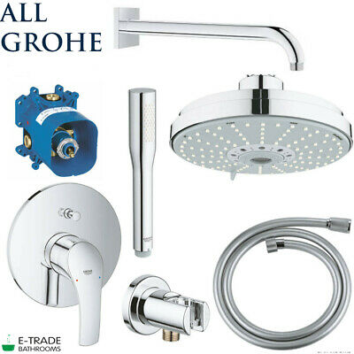 ALL GROHE SET EUROSMART Shower Mixer Rapido SMARTBOX Rainshower COSMOPOLITAN 160 • 397.90£