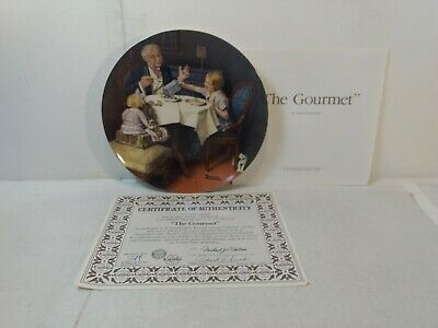 $ CDN12.52 • Buy Edwin Knowles Norman Rockwell The Gourmet 8.5  Decorative Plate Pl693