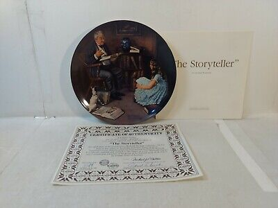$ CDN12.52 • Buy Edwin Knowles Norman Rockwell The Storyteller 8.5  Decorative Plate Pl704