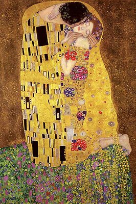 $ CDN15.03 • Buy Klimt The Kiss Poster! Golden Period Art Gilded  Nouveau Gold Leaf Never Hung!