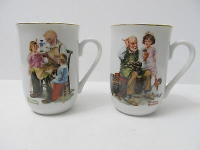 $ CDN22.48 • Buy 2 Norman Rockwell Museum Coffee Mugs Cups Toymaker Cobbler Ceramic